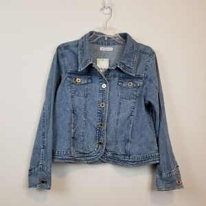 NWT Keran Hart blue denim jacket size Medium